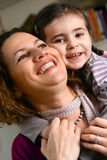 Beautiful mother and daughter Stock Image