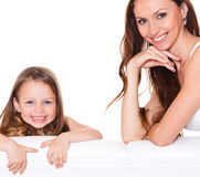 Beautiful mother and daughter Royalty Free Stock Image