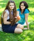 Beautiful mother and daughter enjoying Royalty Free Stock Photo