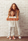 Beautiful mother and daughter Royalty Free Stock Images
