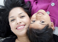 Beautiful mother and daugther Royalty Free Stock Photos