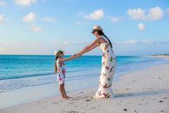 Beautiful mother and her adorable little daughter Stock Photo