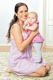 Beautiful mother with her baby. Stock Photography