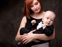 Beautiful mother with her baby boy Royalty Free Stock Photos