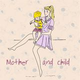 Beautiful mother with her child Stock Photography