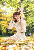 Beautiful mother and her cute baby Royalty Free Stock Photos