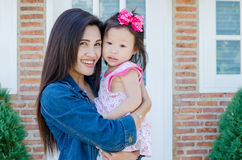 Beautiful mother with her daughter Stock Images