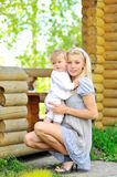 Beautiful mother and her little boy - Outdoors Royalty Free Stock Image