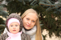 Beautiful mother with her lovely daughter Royalty Free Stock Images