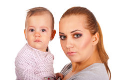 Beautiful mother holding baby girl Royalty Free Stock Image