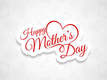 Beautiful mother's day card design. Stock Image
