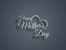 Beautiful mother's day text design. Royalty Free Stock Image