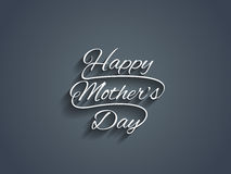 Beautiful mother's day text design. Royalty Free Stock Photography