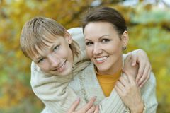Beautiful mother with son Stock Photography
