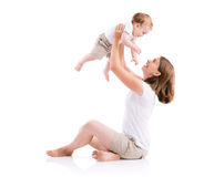 Beautiful mother and son Stock Photos