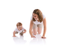 Beautiful mother and son Royalty Free Stock Photos