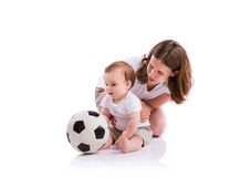 Beautiful mother and son Stock Images