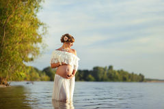 Beautiful motherhood Stock Images
