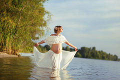 Beautiful motherhood Stock Images