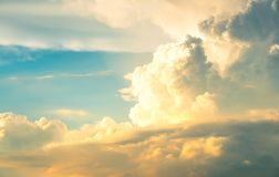 Cloud on sunset Royalty Free Stock Photography