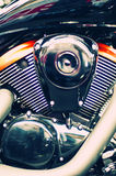 Beautiful motorcycle engine Royalty Free Stock Images