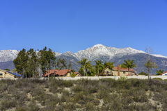 Beautiful Mount Baldy view from Rancho Cucamonga Stock Images