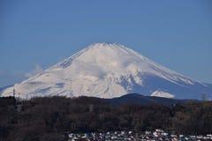 Mount Fuji. Beautiful Mount Fuji snow capped stock photo