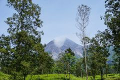 Beautiful of Mount Merapi royalty free stock images