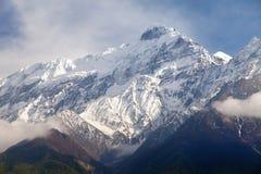 Beautiful mount, round Annapurna circuit trekking trail. Beautiful mount near Kali Gandaki river, round Annapurna circuit trekking trail, Nepalese himalayas royalty free stock image