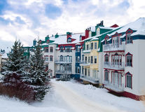 Beautiful Mount-Tremblant village Stock Photo