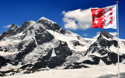Beautiful mountain Breithorn and Klein Matterhorn Stock Photos