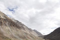 Beautiful mountain carved by glaciers in Ladakh Royalty Free Stock Photo