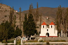 Beautiful mountain church,  Argentina. Tiny church in small mountain village Royalty Free Stock Image