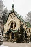 Beautiful church in skiing resort Semmering, Austria. February 2011. stock photos
