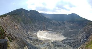 Beautiful mountain craters in Indonesia stock photo