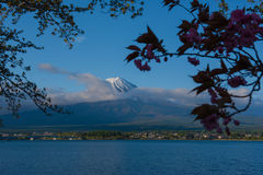 Beautiful Mountain Fuji and  lake in japan for wallpaper Royalty Free Stock Image