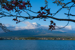 Beautiful Mountain Fuji and  lake in japan for wallpaper Royalty Free Stock Images