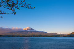 Beautiful Mountain Fuji and  lake in japan for wallpaper Royalty Free Stock Photos