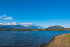 Beautiful Mountain Fuji and  lake in japan for wallpaper Royalty Free Stock Photo