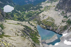 Beautiful mountain glacial lakes, Slovakia Royalty Free Stock Image