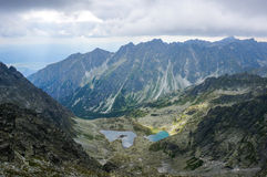 Beautiful mountain glacial lakes, Slovakia Stock Photography