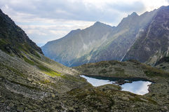 Beautiful mountain glacial lakes, Slovakia Stock Images