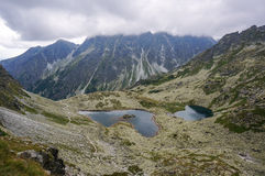 Beautiful mountain glacial lakes, Slovakia Stock Photo