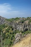 The beautiful mountain gorge of the Azat River. Armenia. The beautiful mountain gorge of the Azat River near the village and the Garni temple Royalty Free Stock Photography