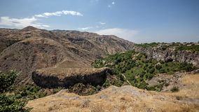 The beautiful mountain gorge of the Azat River Stock Image