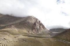 Beautiful mountain with granite rock exposures at Ladakah Stock Images