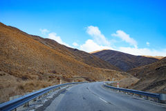 Beautiful mountain highways from lake wanaka to queentown Stock Images