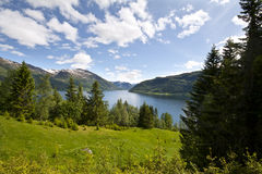 Beautiful mountain lake Stock Photo