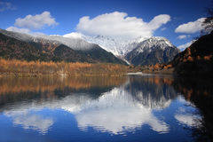 Beautiful mountain and lake Stock Photography