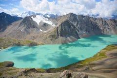 Beautiful mountain lake. Alakul lake, highland, mountains Royalty Free Stock Images